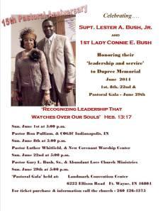 Pastor & Wife anniversary